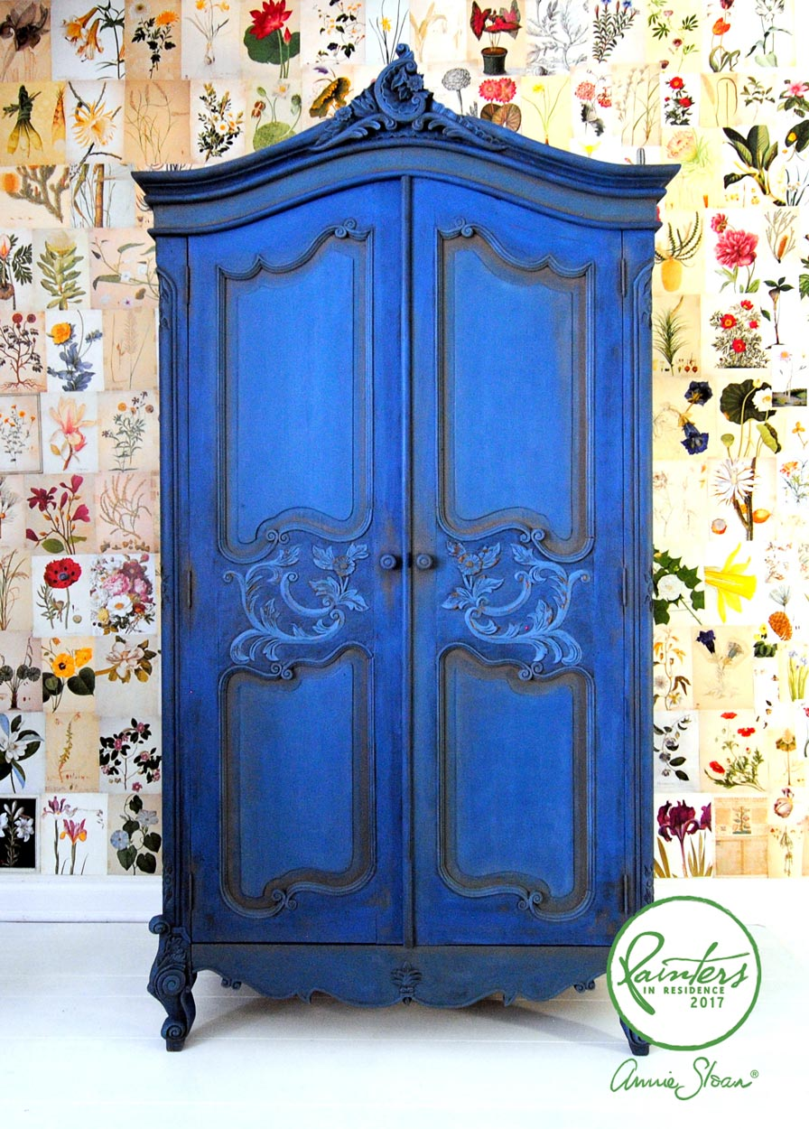 Blue armoire by Ildiko Horvath