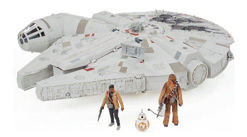 star wars battle action millennium falcon toy
