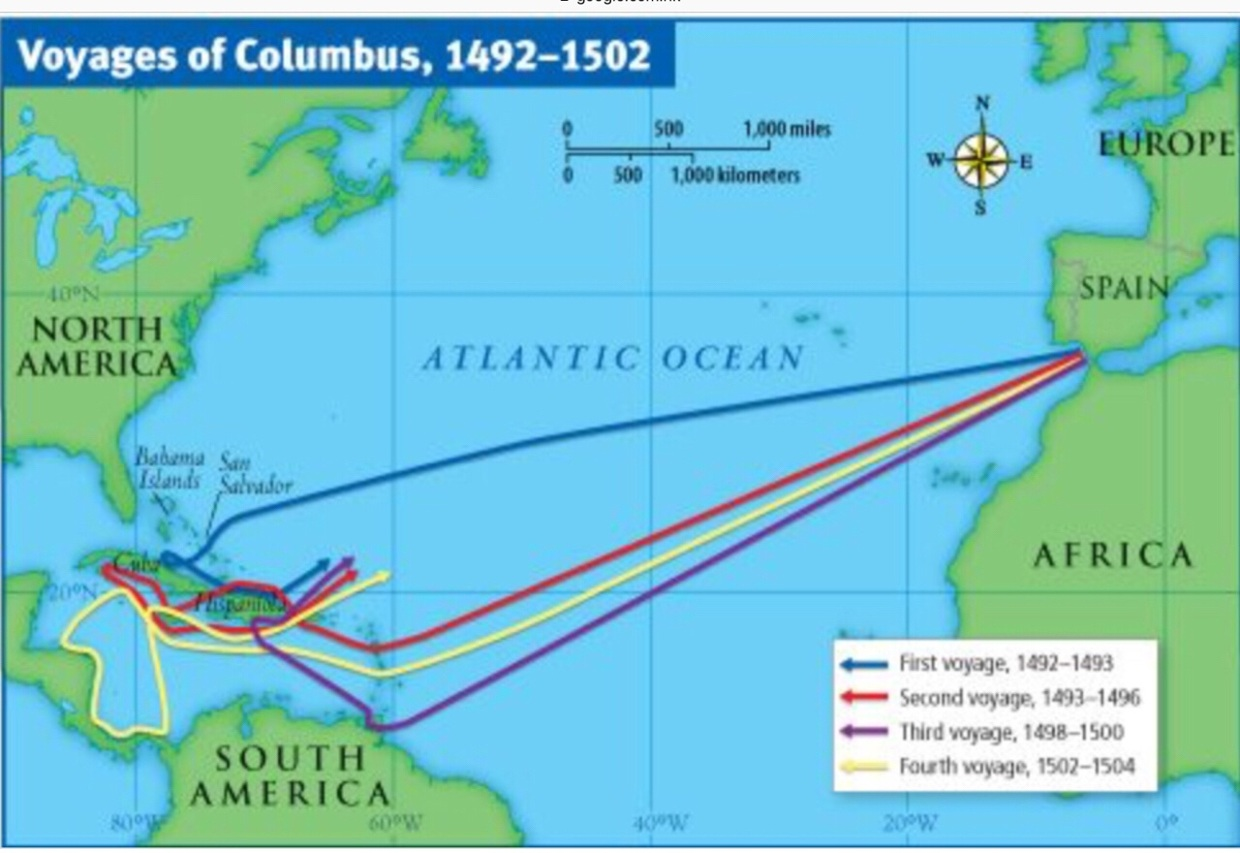 The fifth and final voyage of Columbus