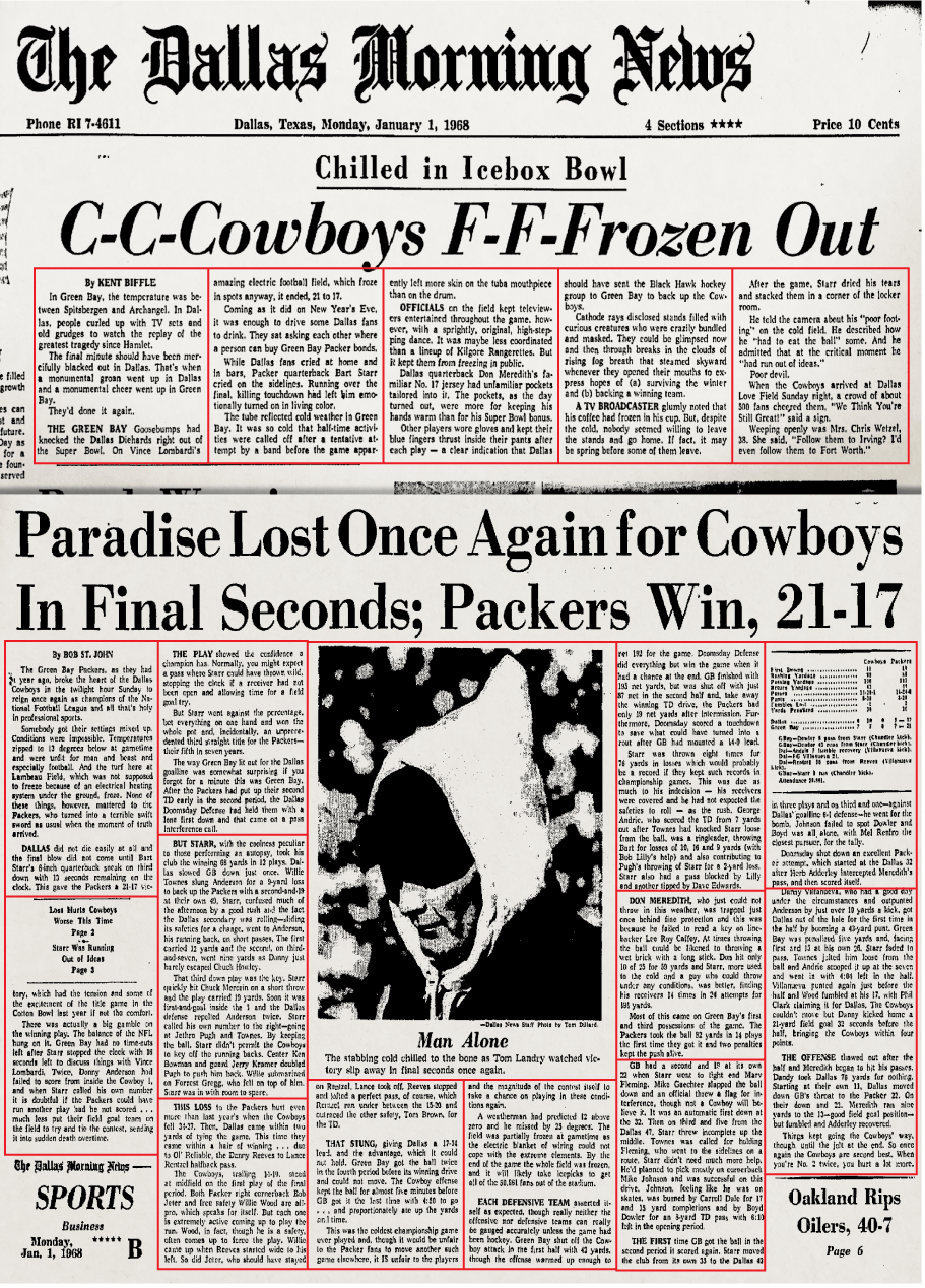 Dallas Cowboys  Too cold to bleed  Why the Ice Bowl still resonates 50  years later  1ce43417f