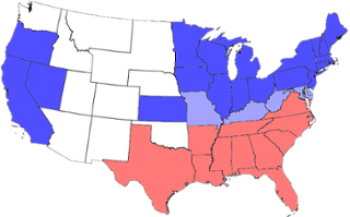 United states map before the civil war., The west was imp...