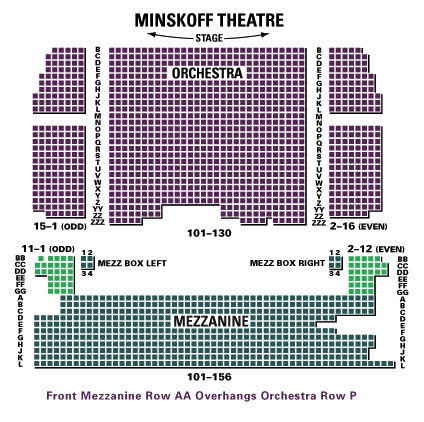Minskoff Theatre Seating Chart Virtual