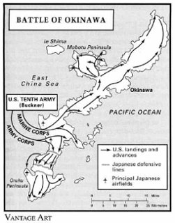Map Of The Battle Of Okinawa