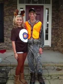 Funny deer in the headlights costume!  sc 1 st  ThingLink & Couple Funny deer in the headlights costume! - ThingLink