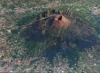 79 AD Mount Vesuvius Volcano Eruption In Pompeii